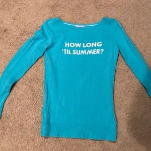 Lilly Pulitzer Turquoise Sweater